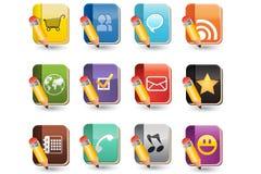 Media sociais do jogo do ícone do livro Imagens de Stock