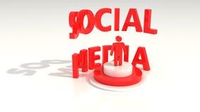 Media sociais que estão o texto Fotografia de Stock