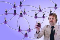 Media sociais usados para finalidades de negócio Imagem de Stock Royalty Free