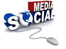 Media social illustration libre de droits