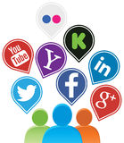 Media social illustration stock