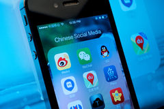 Media social chinois Photographie stock libre de droits