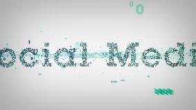 Media social de mots-clés binaires blanc illustration de vecteur