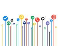 Media social génération, affiche Photos libres de droits