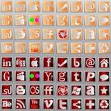 Media social l icônes. illustration de vecteur