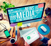 Media Social Media Network Technology Online Concept Royalty Free Stock Photo