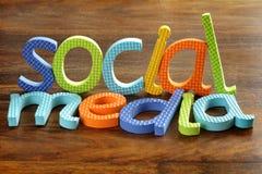 Media sociales Foto de archivo libre de regalías
