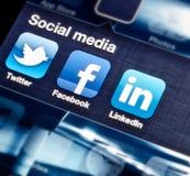 Media sociales Imagenes de archivo