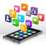 Media sociales Apps Foto de archivo libre de regalías