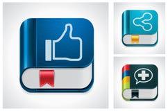 Media sociales del vector que comparten el conjunto del icono Fotos de archivo