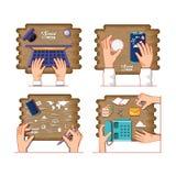 Media sociales que ponen iconos ilustración del vector