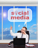 Media sociali Fotografia Stock Libera da Diritti
