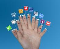 Media sociali fotografie stock libere da diritti