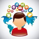 Media sociali Immagine Stock Libera da Diritti
