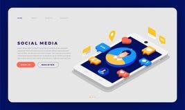 Media sociali Cocept illustrazione di stock