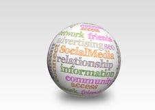 Media sociali 3d Fotografia Stock Libera da Diritti