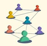 Media sociali di affari, simboli commercializzanti, rete dell'utente illustrazione vettoriale