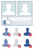 Media sociali fissati Fotografie Stock Libere da Diritti
