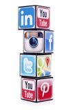 Media sociali popolari Fotografie Stock