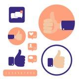Media sociali Segni della mano Buon concetto Fotografie Stock Libere da Diritti