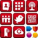 Media sociali stabiliti dell'icona Fotografia Stock Libera da Diritti