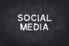 Media sociali - testo fotografia stock