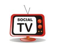 Media sociali TV Immagine Stock Libera da Diritti
