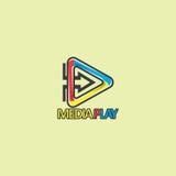 Media spel bedrijfsembleem Stock Foto's