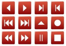 Media square icons set. Stock Photo