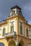 Media stedelijke architectuur, Transsylvanië, Roemenië stock afbeeldingen