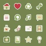 Media stickers Stock Foto's