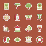 Media stickers Stock Images