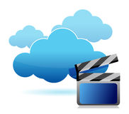 Media storage cloud computing Royalty Free Stock Images