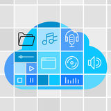 Media storage cloud technology Stock Images