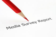 Media survey report Royalty Free Stock Images