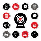 Media symbol set Royalty Free Stock Photos