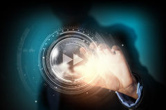 Media technologies in our hands Royalty Free Stock Image