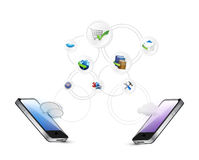 Media technology cloud computing concept Stock Photography