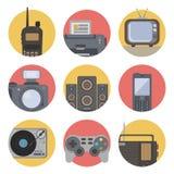 Media technology flat icons Stock Images