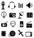 Media technology icons set Royalty Free Stock Image