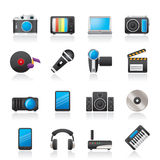 Media and technology icons Royalty Free Stock Photography