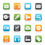Media and technology icons Royalty Free Stock Photo