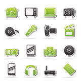 Media and technology icons Royalty Free Stock Images