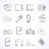 Media and technology icons Royalty Free Stock Photos