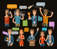 Media, television or journalism icons set. vector illustration Stock Photo
