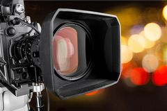 The Media. Television Social Gathering Camera Video Journalist Broadcasting royalty free stock images