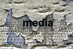 Media text on grunge background Royalty Free Stock Photography
