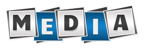 Media Blue Grey Blocks Stock Photos