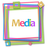 Media Colorful Frame Royalty Free Stock Image