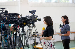 Media - TV Reporters Royalty Free Stock Image